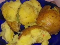 Пісний картопля «Запечені часточки»