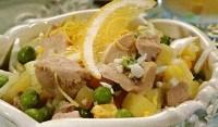 Пісний картопляно-грибний салат