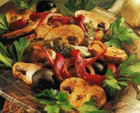 Пісний салат «Насолода смаком» з грибами