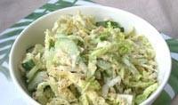 Пісний салат «Зелений з соусом з горіхів»
