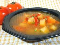 Пісний суп з печеними овочами