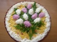 Святковий салат «Букет бузку»