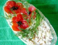 Святковий салат «Макове поле»