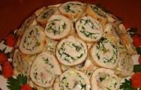 Святковий салат «Серпантин»