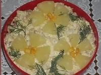 Святковий салат «Тропіки»