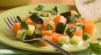 Припущені в сметанному соусі овочі