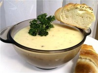 Пряний часниково-вершковий суп