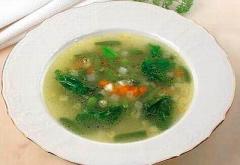 Пшенный суп з часничком