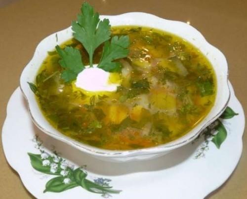 Суп грибний на курячому бульйоні