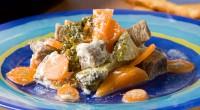 Разварная телятина з овочами