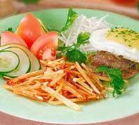 Рецепт біфштекса з яйцем