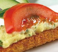 Рецепт канапе з сиром і помідорами