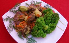 Рецепт курячих шлунків з овочами