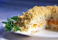 Рецепт салату Мімоза (легкий варіант)