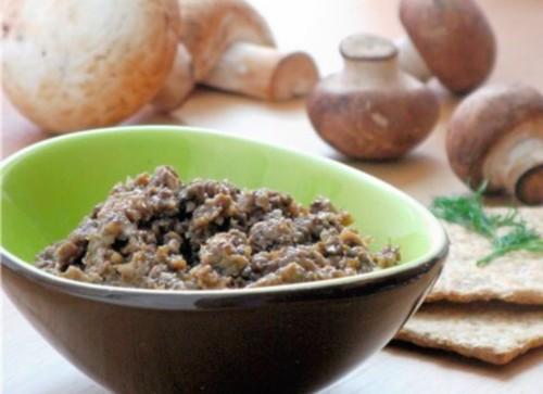 Рецепти грибної ікри з овочами на зиму