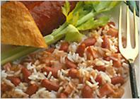 Рис з червоною квасолею і копченою ковбасою