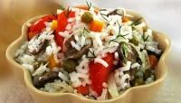 Рис з овочами і грибами