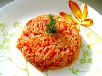 Рис з томатами та сиром