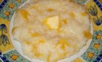 Рисова каша на молоці з гарбузом