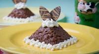 Рисова кашка зі збитими вершками і какао