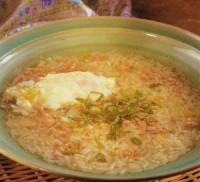 Рисовий суп з кольоровою капустою
