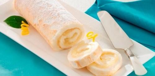 Рулет «Десерт Снігової Королеви» з лимоном