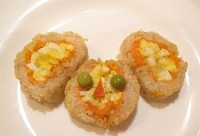 Рулет з рибою і морквою «Чебурашка»