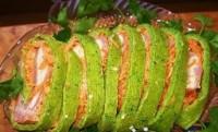 Рулет з шинкою і корейською морквою «Зелений»