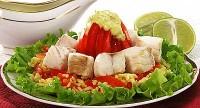 Рибний салат з рисом і шафраном
