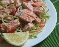 Салат дієтичний з лососем «Червоний»