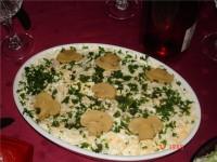 Салат грибний з шинкою