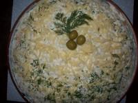 Салат з грибів з картоплею і огірками