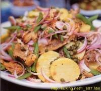 Салат з яєць і копченої скумбрії