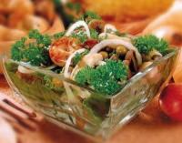 Салат з червонокачанної капусти з грибами