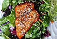 Салат з лосося під апельсиновим соусом