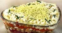 Салат з лосося з гречкою