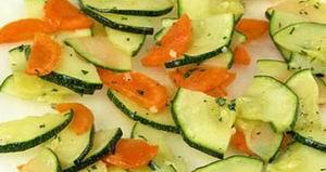 Салат з моркви з цукіні