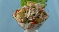 Салат з печінки тріски з рисом (2)