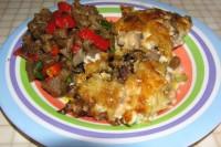 Салат з печених грибів