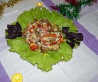 Салат зі свіжих грибів з лимонним соком