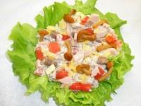 Салат з свіжих грибів