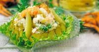 Салат з вугра і раків