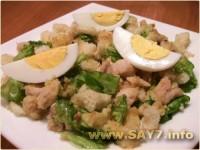 Салат з гливи з морквою і яйцями