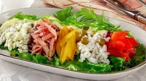 Салат з шинки і рису