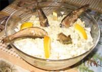 Салат яєчний з рибою