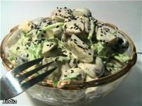 Салат картопляний з маринованими грибами