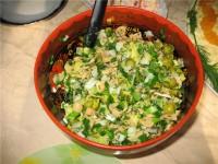 Салат картопляний з маринованими опеньками