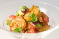 Салат-коктейль з авокадо і креветками «Пряний»