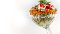 Салат-коктейль з оселедцем