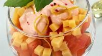 Салат-коктейль з сиром і помідорами